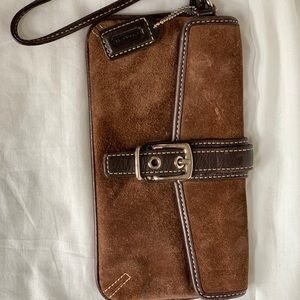 COACH Suede Clutch
